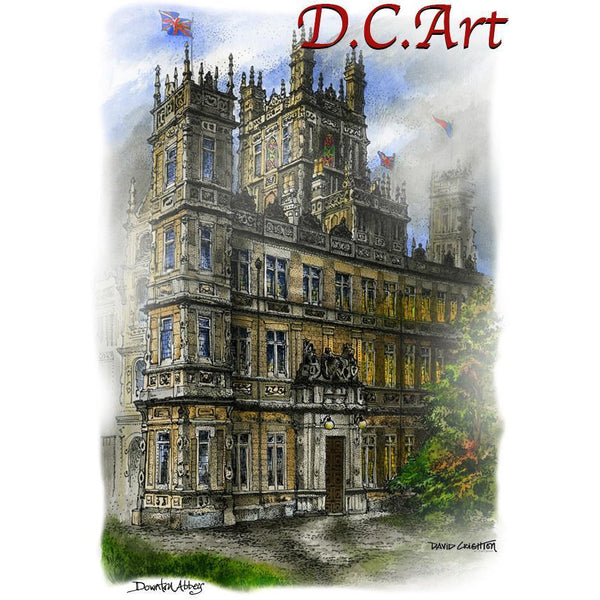 Downton Abbey Estate by Artist Illustrator David Crighton Art