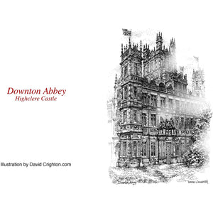 Downton Abbey Pen and Ink NoteCard