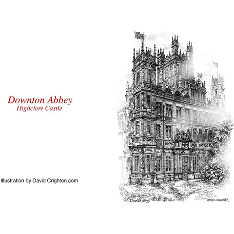 Downton Abbey Pen and Ink Card by David Crighton