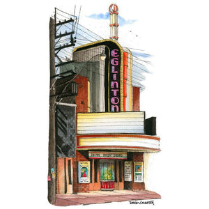 Eglinton Cinema, Toronto by Artist Illustrator David Crighton