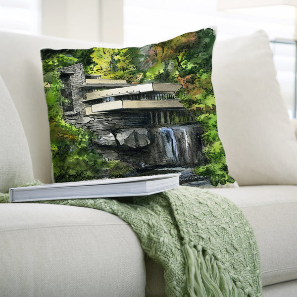 Fallingwater, USA Pillows by David Crighton