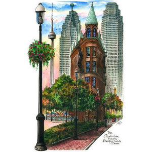 Flatiron #2, Toronto, Canada by Artist Illustrator David Crighton Art