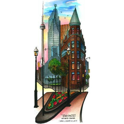 Flatiron #1, Toronto, Canada by Artist Illustrator David Crighton Art