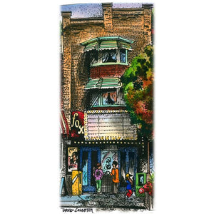 Fox Theatre, Toronto, Ontario by Artist Illustrator David Crighton Art