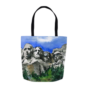 Mount Rushmore Urban Art Tote, South Dakota Souvenir Gift