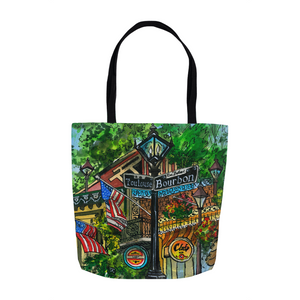 New Orleans Souvenir GIft Tote, Mardi Gras Gift