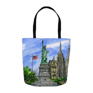 New York City Art Tote, NYC Souvenir Gift