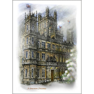 Downton Abbey Christmas by Illustrator Artist David Crighton Art
