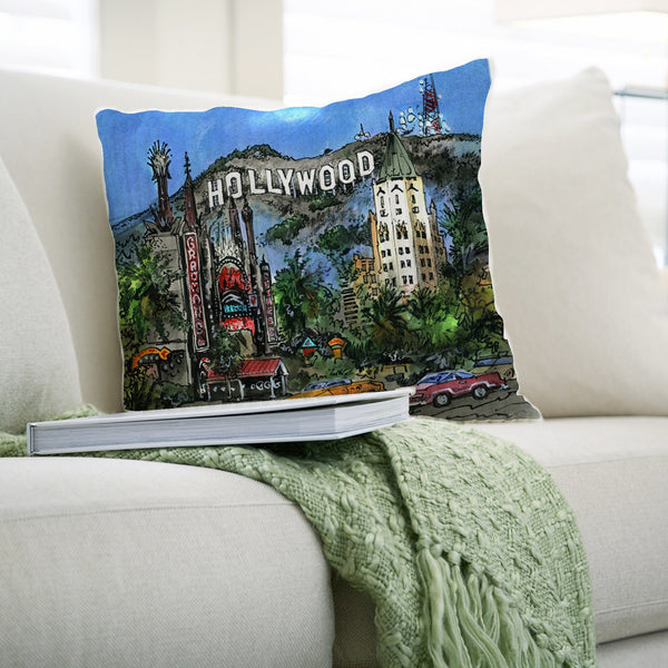 Hollywood, USA Pillows by David Crighton