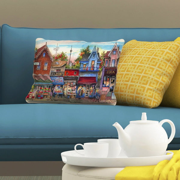 Kensington Neighbourhood Pillows by David Crighton Art