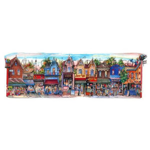 Kensington Market Glass Framed Art
