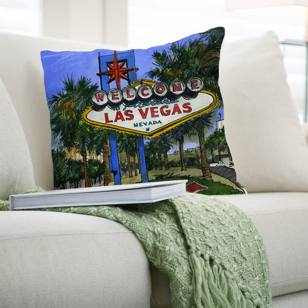 Las Vegas, USA Pillows by David Crighton
