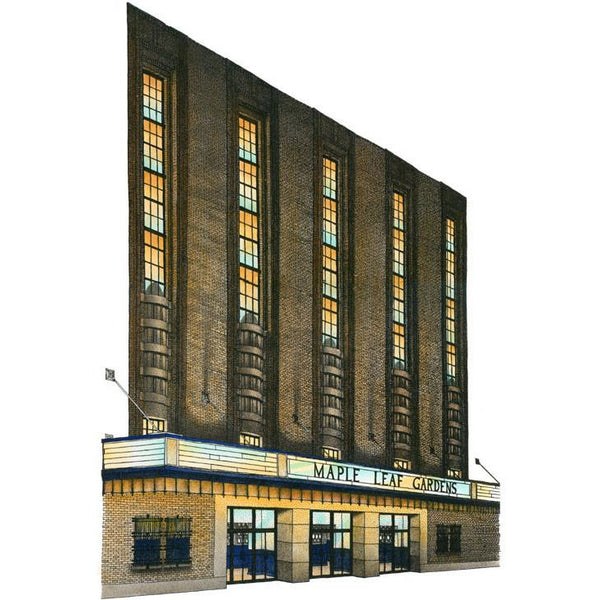 Maple Leaf Gardens, Toronto, Canada by Artist Illustrator David Crighton Art