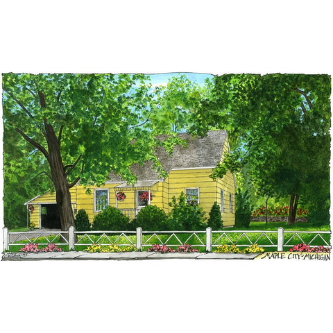 Michigan House by Illustrator David Crighton
