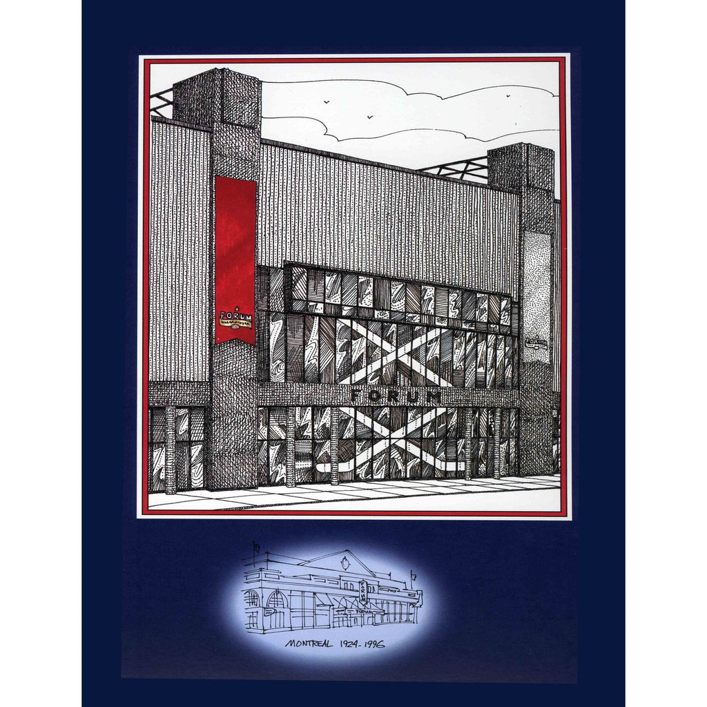 Montreal Forum, Montreal part of The Original Six by Illustator and Artist David Crighton