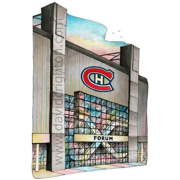 Montreal Forum - Original Six by Illustrator Artist David Crighton Art