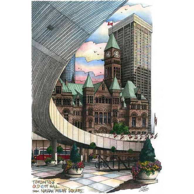Post Card-  Nathan Phillips Square., Toronto  by David Crighton