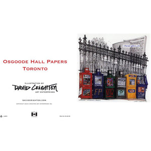 Osgoode Hall Newsboxes Greeting Card