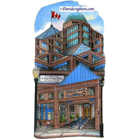 Police Headquarters Station, Toronto, Canada by Artist Illustrator David Crighton Art