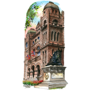 Queen's Park Legislature by Totally Toronto Art