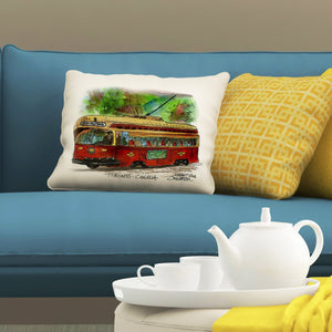 Red Rocket Humber Pillows by Totally Toronto Art