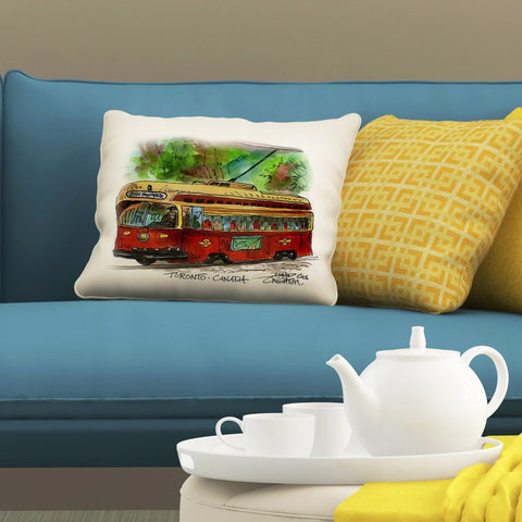 Red Rocket Humber Pillows by David Crighton Art