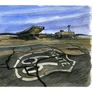 Route 66, U.S.A. by Illustrator Artist David Crighton Art