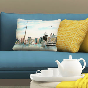 Skyline of Toronto Pillows by David Crighton Art