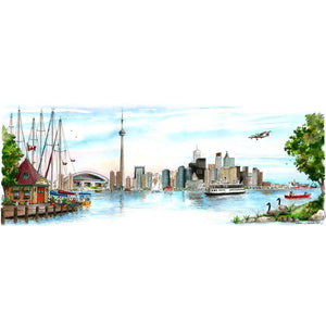 Toronto Skyline Wall Art available online at David Crighton Art