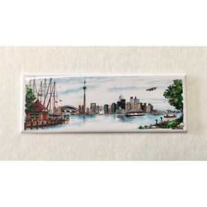 Toronto Skyline Fridge Magnet (Panoramic)