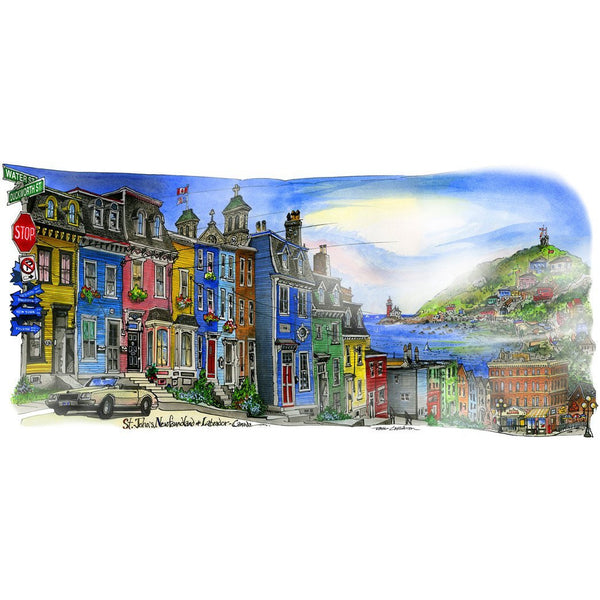 St. John's, Newfoundland and Labrador by Artist Illustrator David Crighton Art