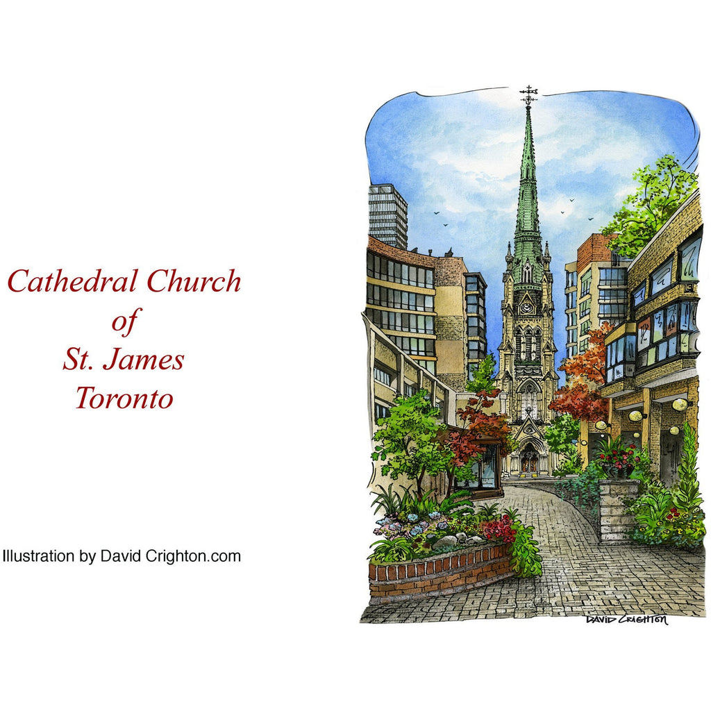 St. James Cathedral Card, Toronto by David Crighton