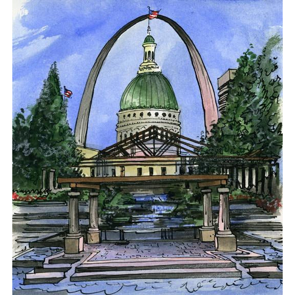 St. Louis, U.S.A. by Artist Illustrator David Crighton Art
