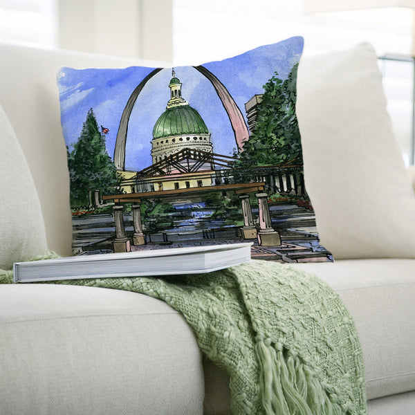 St. Louis Pillows by David Crighton Art