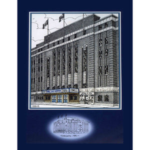 Hockey Poster - Maple Leaf Gardens | Toronto is part of the original six NHL hockey franchise arenas
