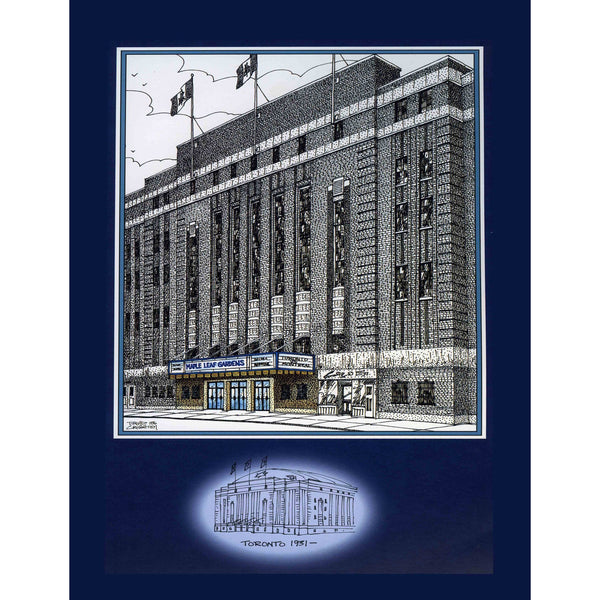 Maple Leaf Gardens, Toronto part of the Original Six by Illustrator Artist David Crighton