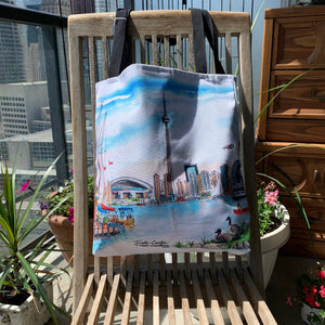 Toronto Skyline Island Art Tote Bag