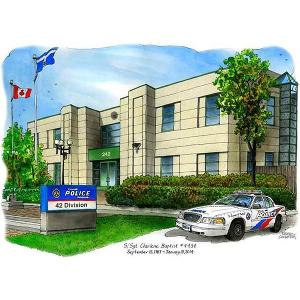 Toronto Police Service - 42 Division, Markham by Art Illustrator David Crighton
