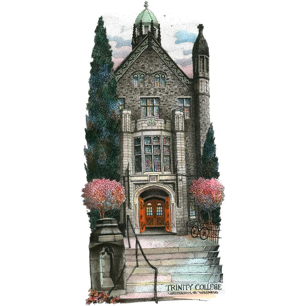 Trinity College, University of Toronto by Artist Illustrator David Crighton Art