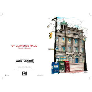 St. Lawrence Hall Toronto Note  Card
