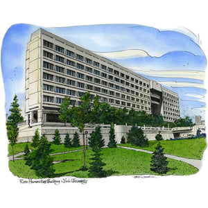 York University, Toronto by Artist Illustrator David Crighton Art
