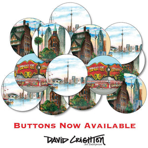 Toronto Skyline Round Fridge Magnet