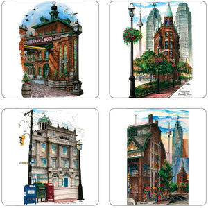 Toronto Historic Sites Art Coaster Gift Sets