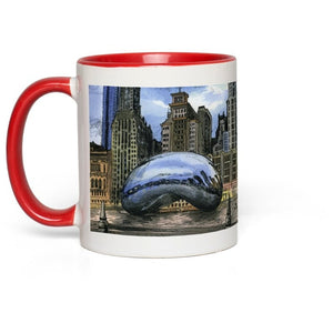 Chicago, Illinois 11 oz. Coffee Mug, Cloud Gate Souvenir Gift