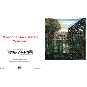 Osgoode Hall Toronto Greeting Card