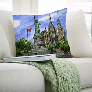 "New York City ""Statue of Liberty"" Souvenir Throw Pillow"
