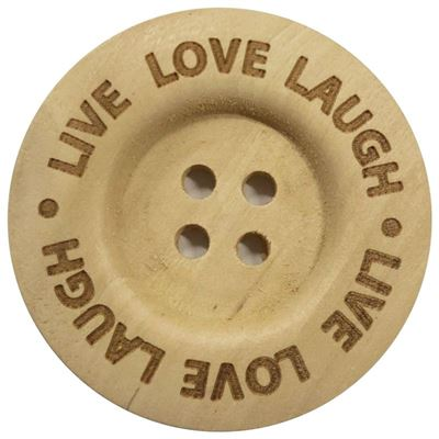 Durable Knopen Live Love Laugh 40mm (2 stuks)