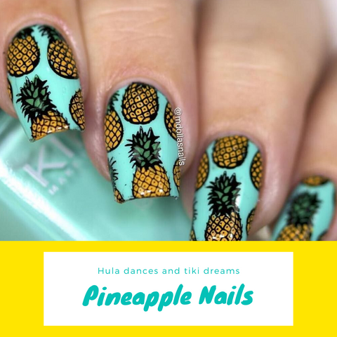 pineapple nail art 2020 Move Manicure Singapore