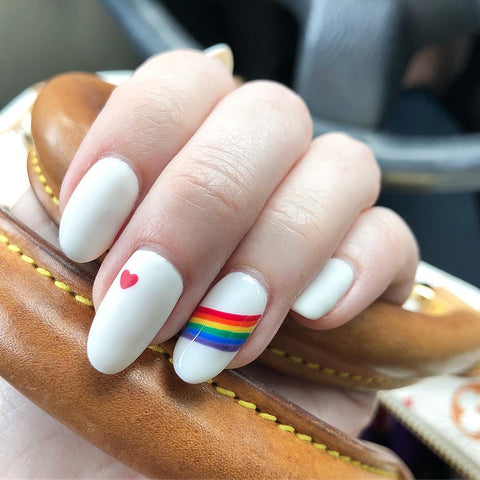 Rainbow Nails Tutorial Step By Step With Move Manicure Sg