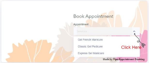 step 1 how to book an appointment with move manicure